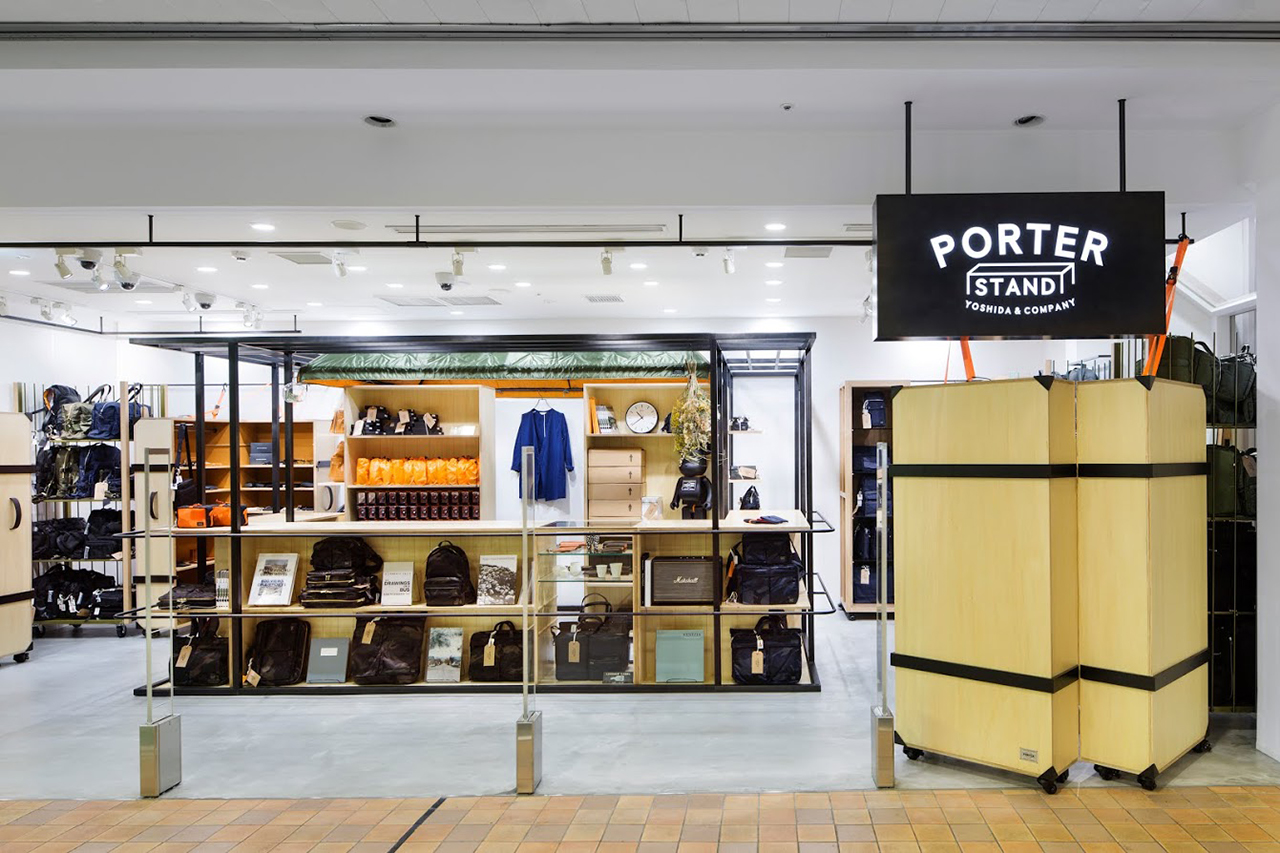 Inside PORTER STAND in Tokyo