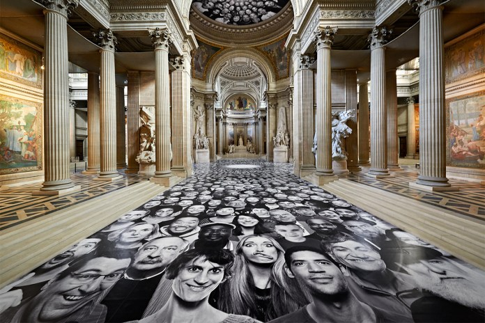 "JR's ""Inside Out"" Hits the Panthéon in Paris"