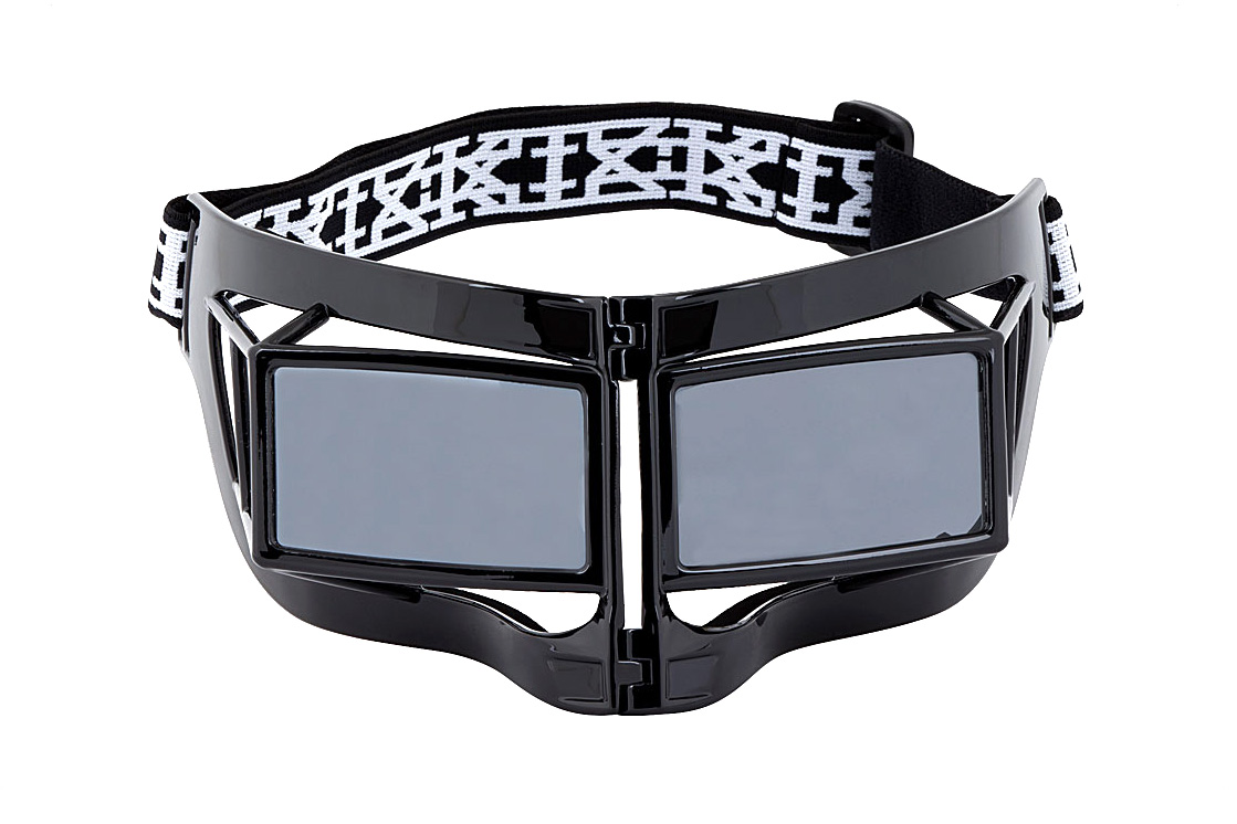 ktz x linda farrow black mask sunglasses