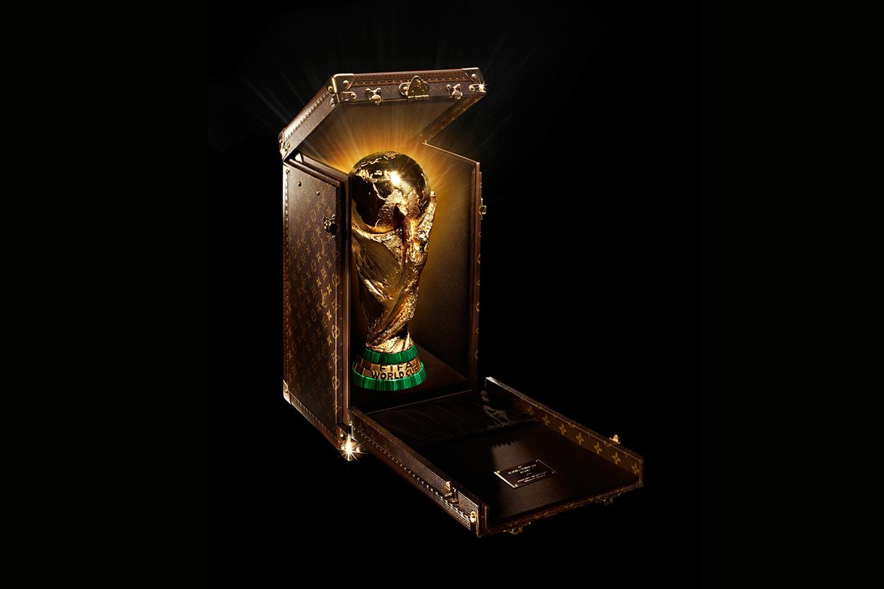 Louis Vuitton Monogrammed World Cup Trophy Case