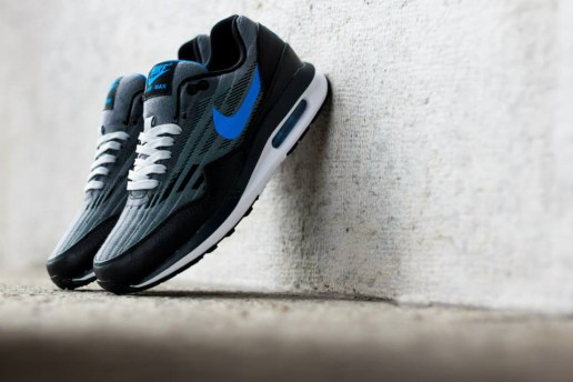 Nike 2014 Summer Air Max Lunar 1 Jacquard Wolf Grey/Photo Blue
