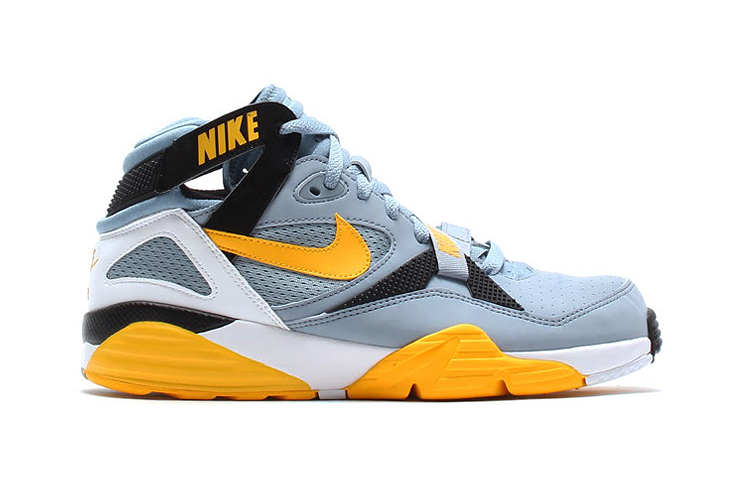 nike air trainer max 91 stone grey yellow black