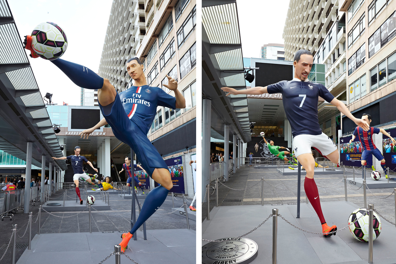 "Nike Football ""The Last Game"" Mega-Sized Footballer Figures"