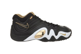 Nike Zoom Uptempo V PRM Black/Metallic Gold-White