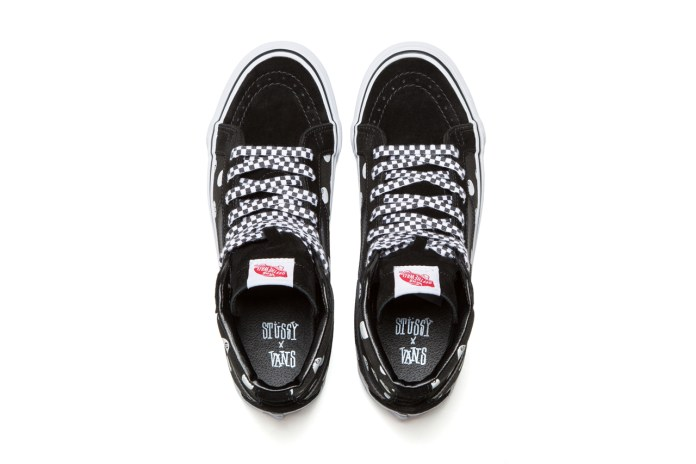 Stussy x Vault by Vans Sk8-Hi Black 8-Ball