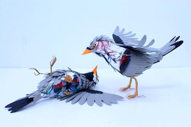 3D Bird Sculptures by Diana Beltran Herrera