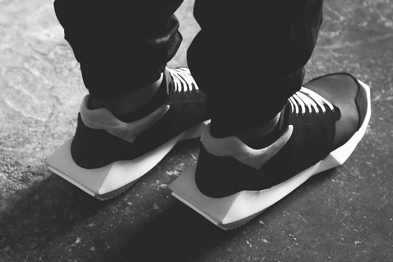 a closer look at rick owens x adidas 2014 fall winter tech runner