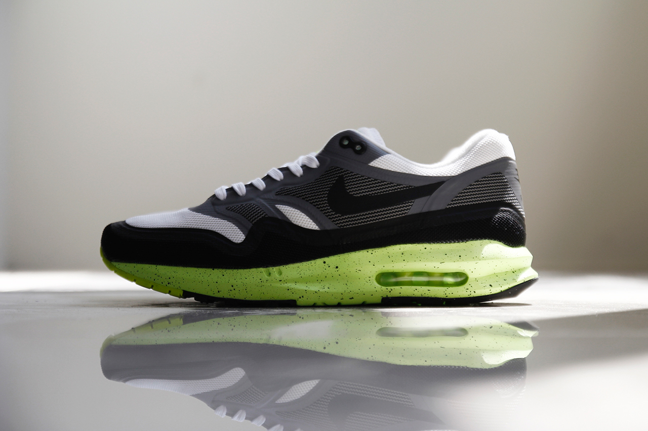 mens nike air max lunar 1 green pink