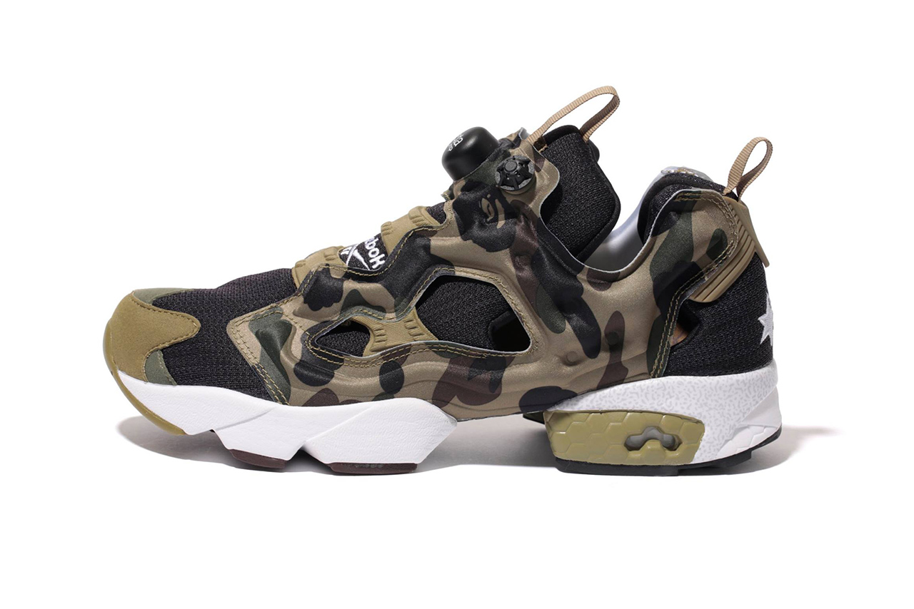 a first look at the a bathing ape x mita sneakers x reebok pump fury og camo