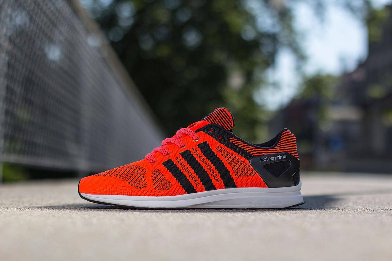 adidas adizero feather primeknit solar red