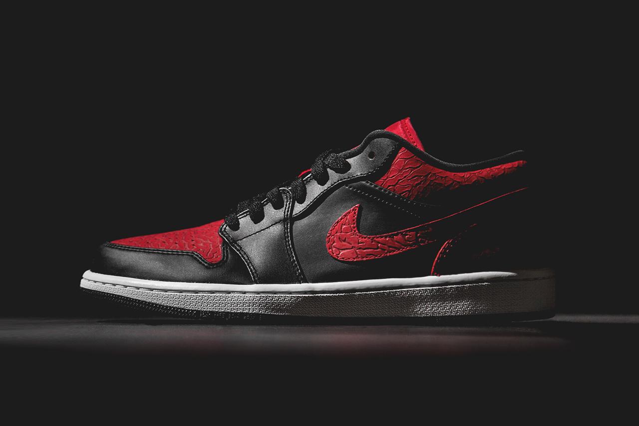 air jordan 1 low black gym red