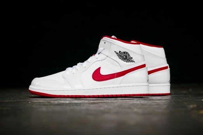 Air Jordan 1 Mid White/Gym Red