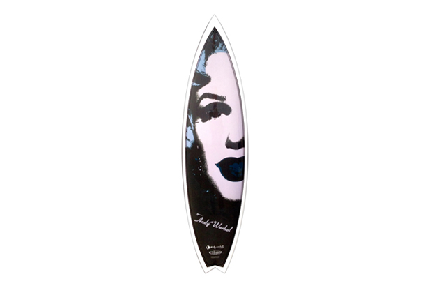 andy warhol foundation x tim bessel surfboards marilyn surfboard collection