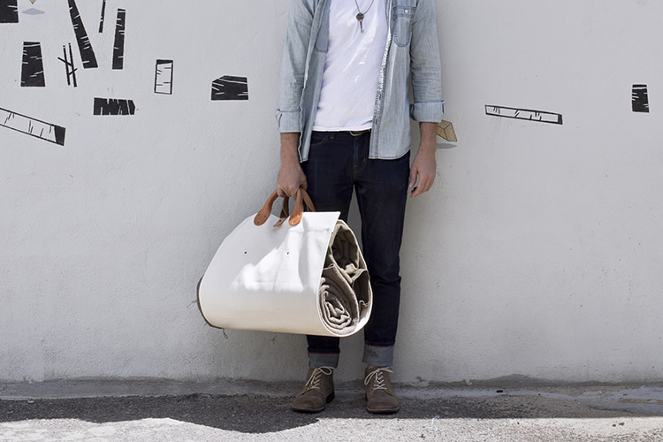 campwel x winter session log tote