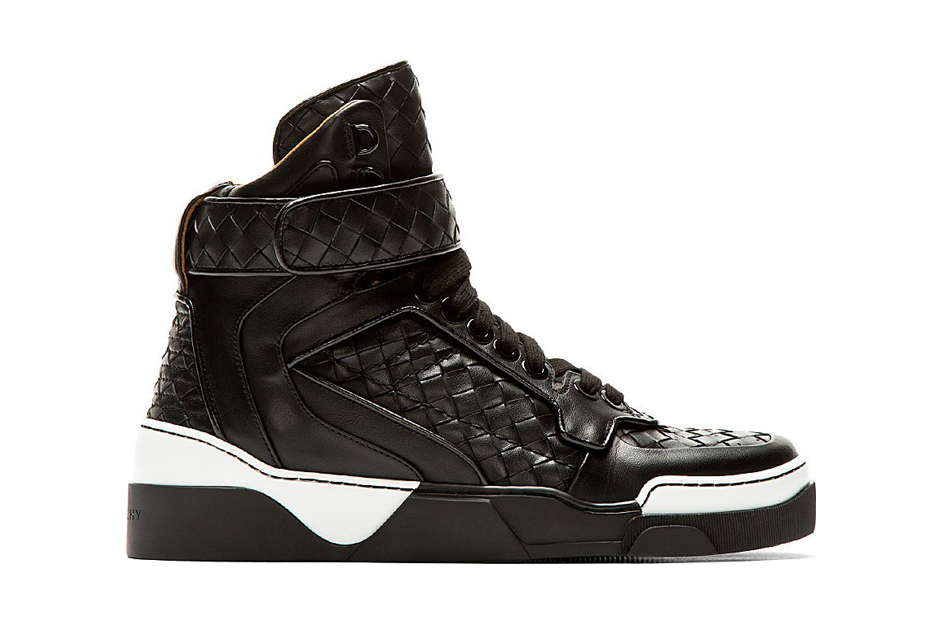 givenchy tyson black basketwoven leather high top
