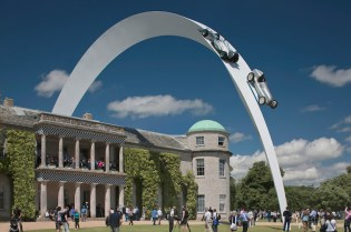 Goodwood Festival of Speed 2014 Mercedes-Benz Sculpture by Gerry Judah