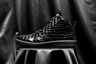 "Gourmet 2014 Fall/Winter ""Black Croc"" Quattro Skate 2 Sneakers"