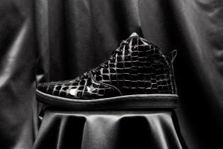 "Gourmet 2014 Fall/Winter ""Black Croc"" Quattro Skate 2 Sneakers"