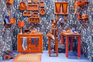 "Hermes ""Fox's Den"" Window Installation by Zim & Zou"