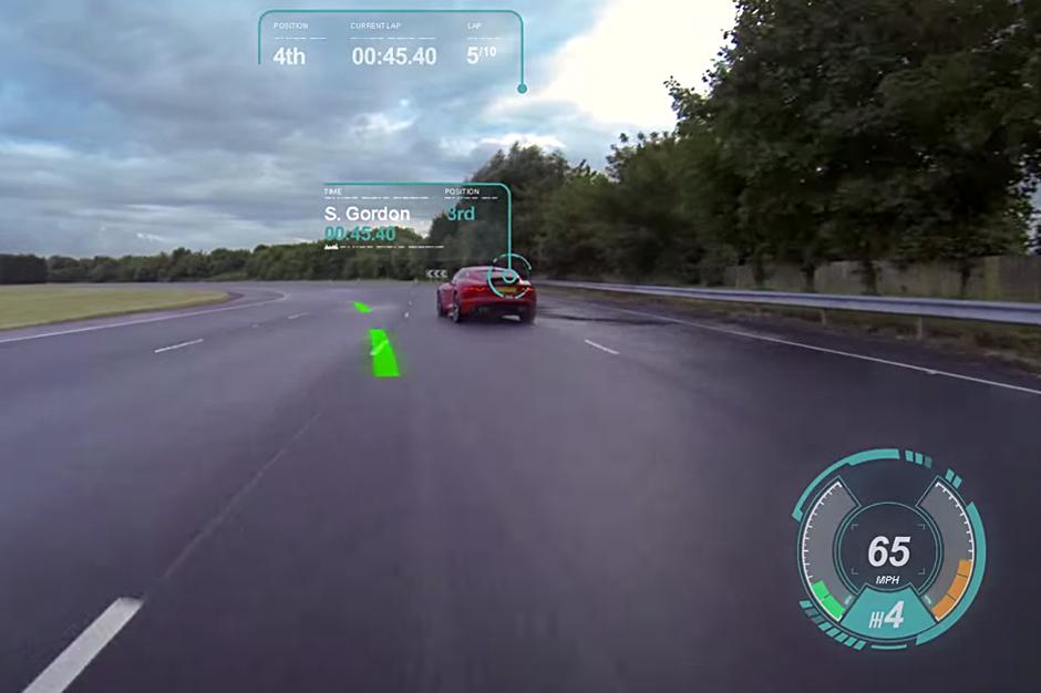Jaguar Introduces its Virtual Windscreen Concept
