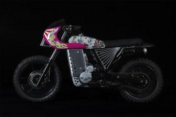 Keiichi Tanaami x SUPER x Basic Garage Honda NX650 Motorcycle
