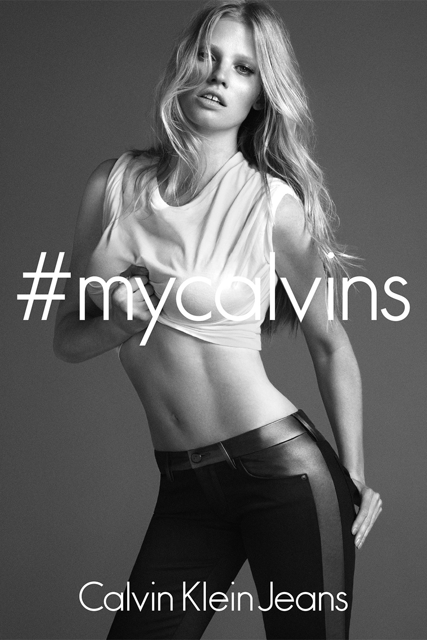 lara stone by mert marcus for the calvin klein 2014 fall campaign