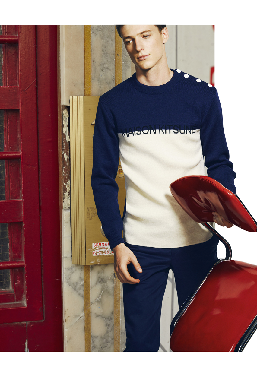 maison kitsune 2015 spring summer lookbook