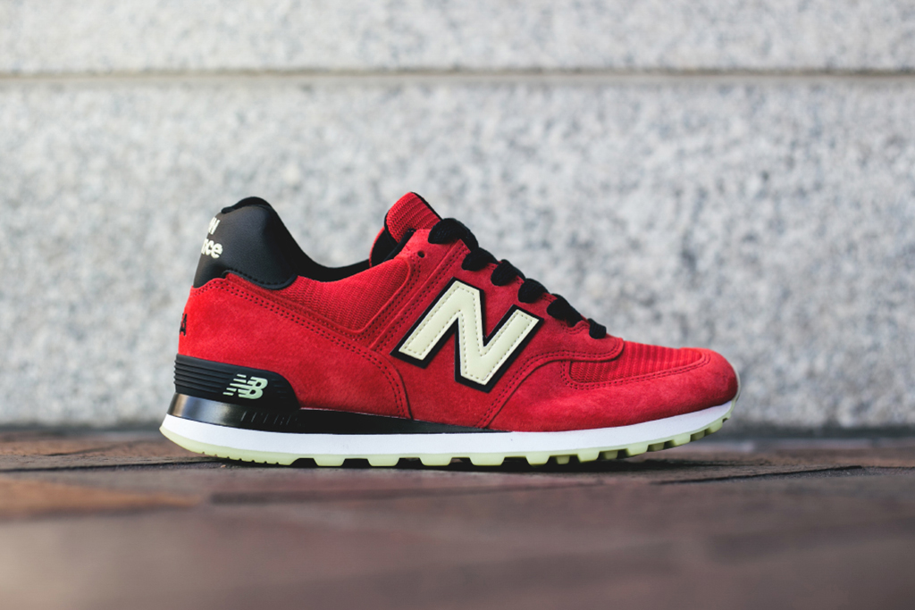 New Balance Made in USA M574 Red/Black/White