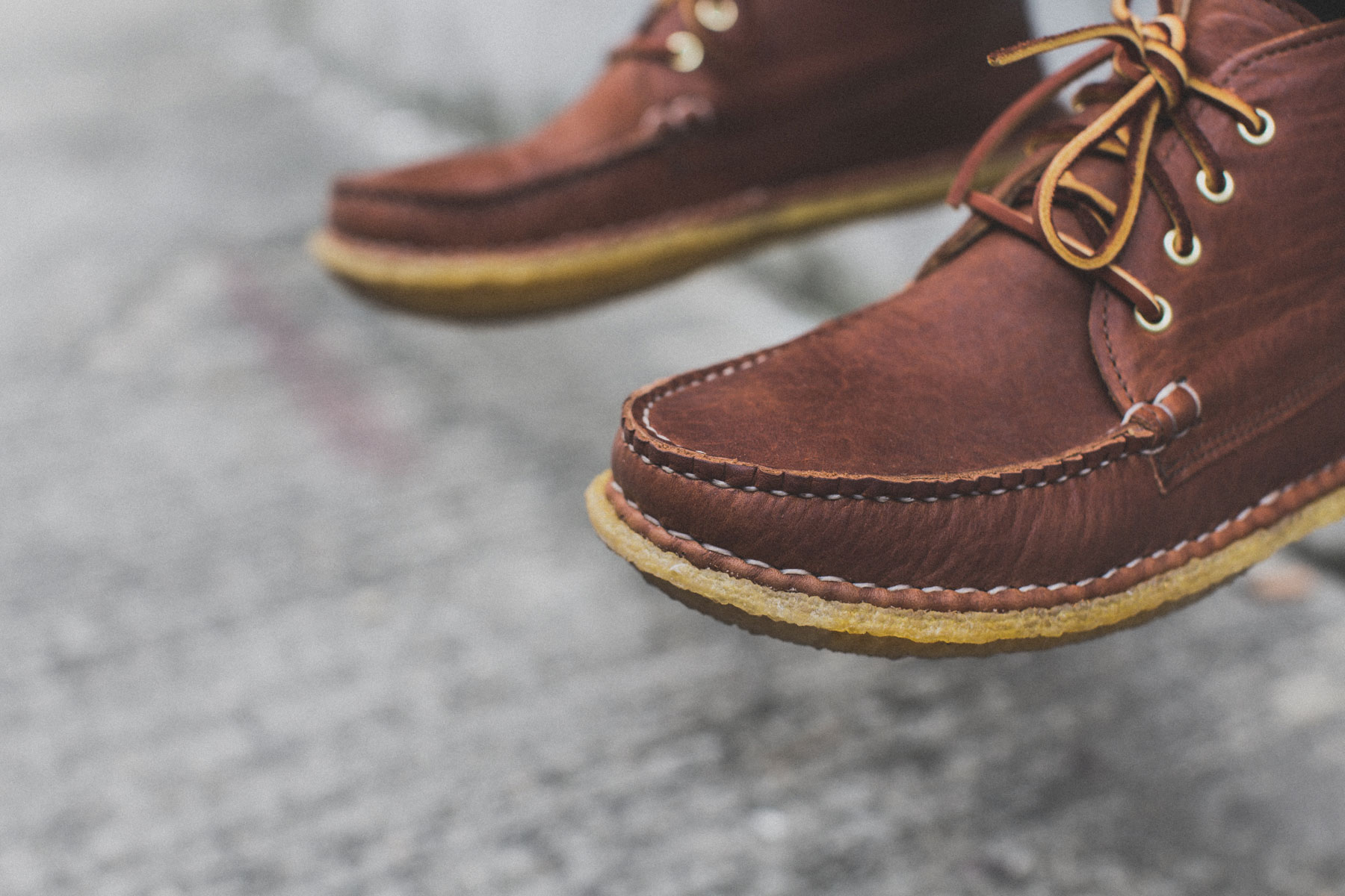"New England Outerwear Quarter Boot Crepe ""Tan Acadia"""