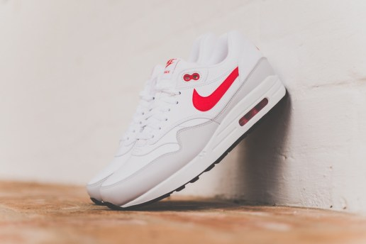 Nike Air Max 1 Leather White/University Red