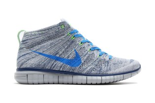 Nike Free Flyknit Chukka Wolf Grey/Photo Blue-Brave Blue-Electric Green