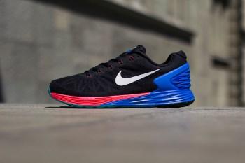 Nike LunarGlide 6 Black/White-Hyper Cobalt-Hyper Punch