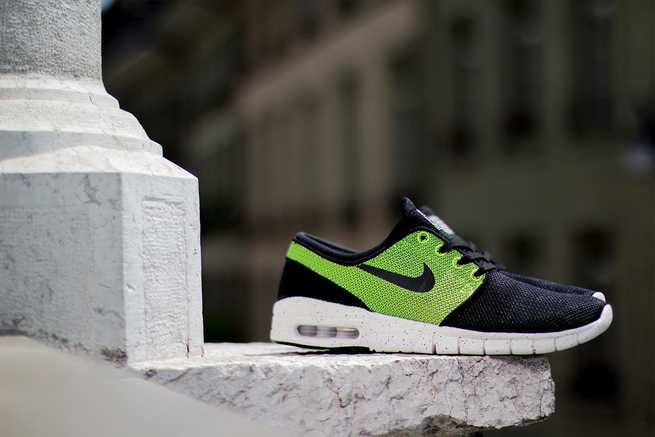 Nike SB Stefan Janoski Max Black/Black-Volt-Ivory
