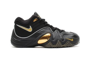 Nike Zoom Uptempo V Premium Black/Metallic Gold-White