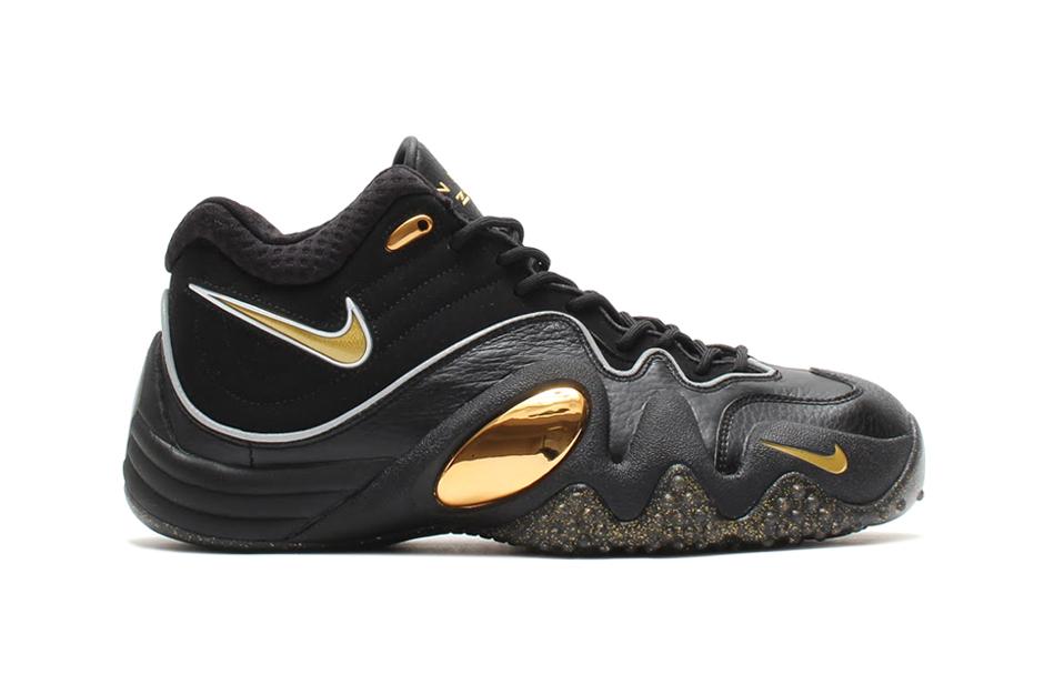 Nike Zoom Uptempo V Premium Black/Metallic Gold-White