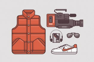 Ryan Putnam's Illustrations of Famous Movie Costumes