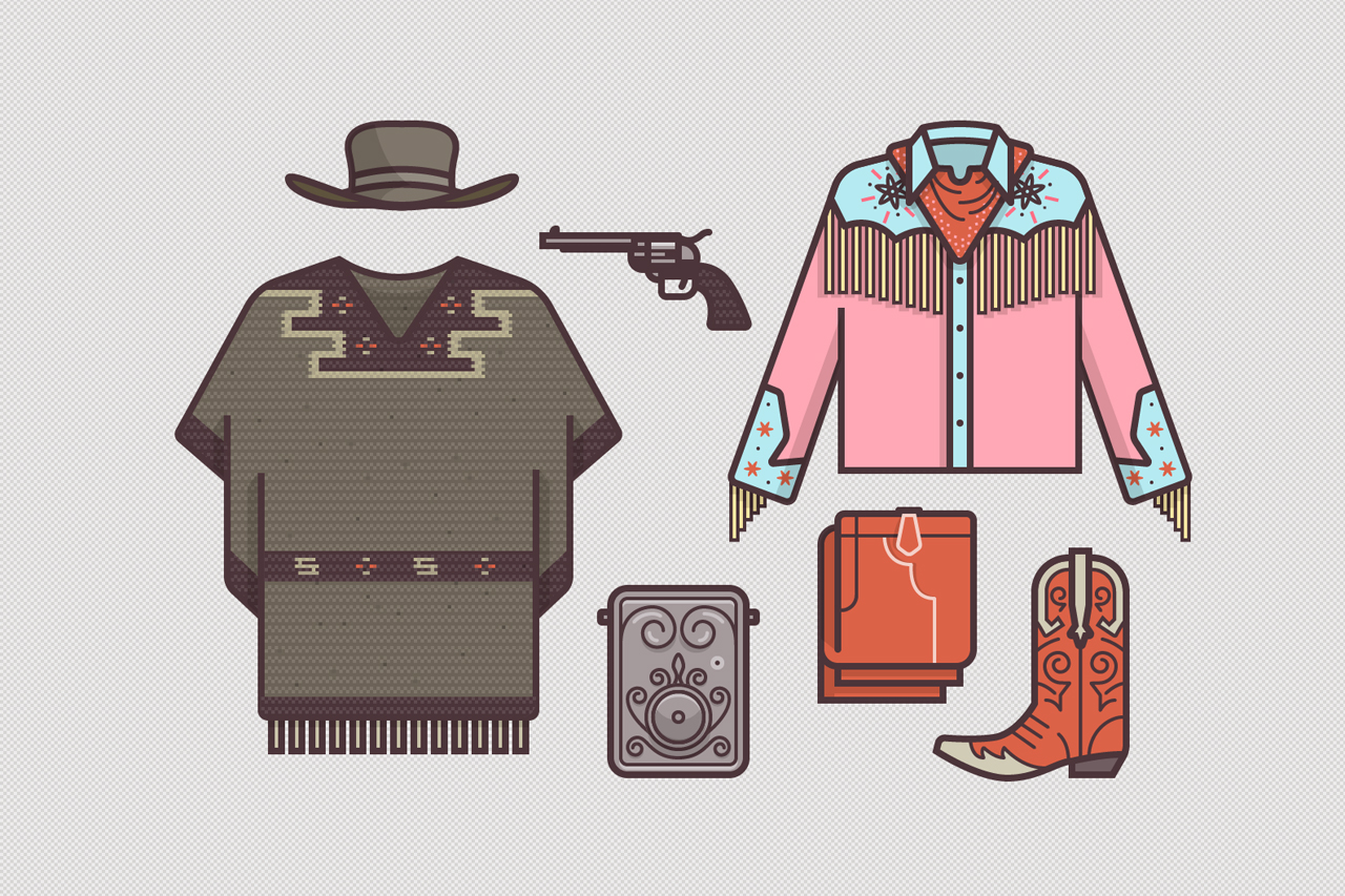 ryan putnams illustrations of famous movie costumes