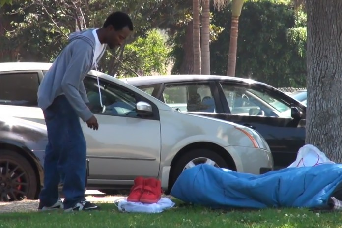 Stealing Yeezys From a Homeless Man