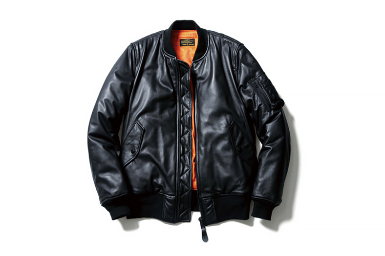 uniform experiment x Alpha Industries 2014 Fall/Winter Leather MA-1