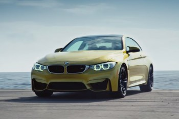"Watch BMW Turn an Aircraft Carrier into the ""Ultimate Racetrack"" for the 2015 M4"