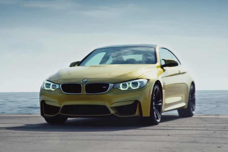 """Watch BMW Turn an Aircraft Carrier into the """"Ultimate Racetrack"""" for the 2015 M4"""