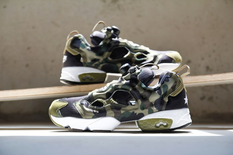 "A Closer Look at A Bathing Ape x mita sneakers x Reebok Instapump Fury OG ""Camo"""