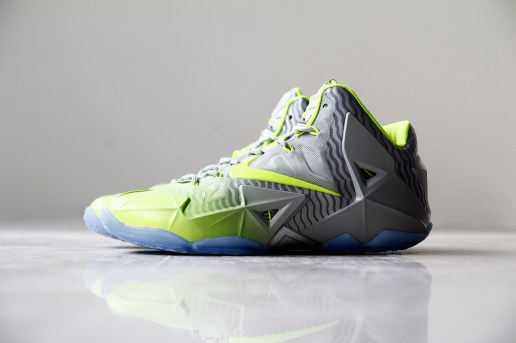 A Closer Look at the Nike LeBron 11 Metallic Luster/Ice-Volt