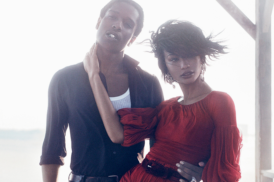 A$AP Rocky & Chanel Iman by Mikael Jansson for Vogue ...
