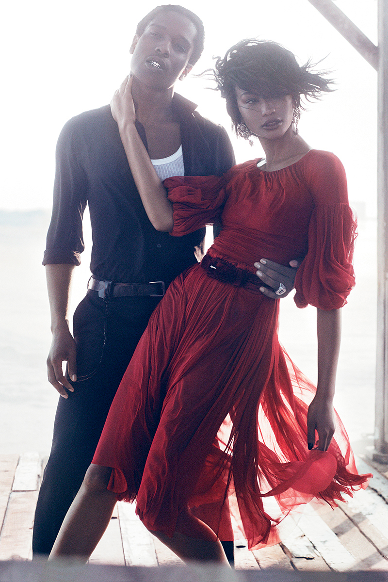 A$AP Rocky & Chanel Iman by Mikael Jansson for Vogue