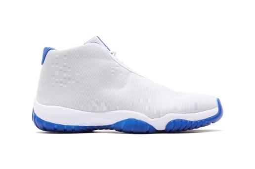 Air Jordan Future White/Sport Blue & Dark Grey/Volt