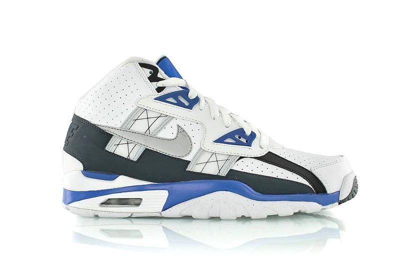 Nike Air Trainer SC High White/Platinum-Hyper Cobalt