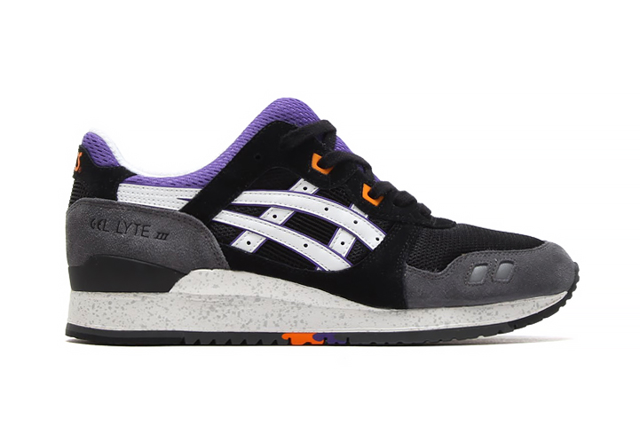 asics gel lyte iii white purple hair