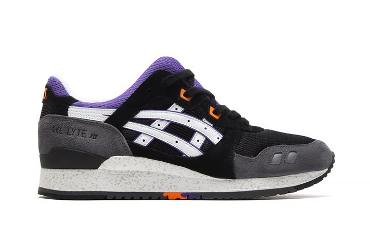 asics gel lyte iii black purple orange