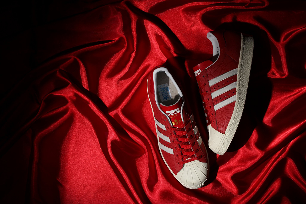 atmos x adidas Originals Superstar 80s G-SNK 8 Red/3M